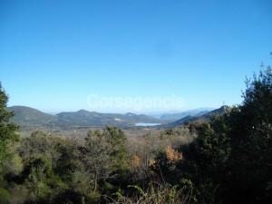 Terrain constructible à Muro, vue plaine et barrage